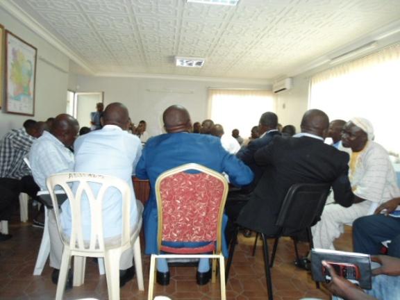 Une vue de la réunion à l'ARECA