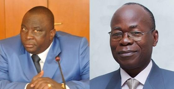 Le ministre Adjoumani (à gauche) et le professeur Babacauh (à droite)